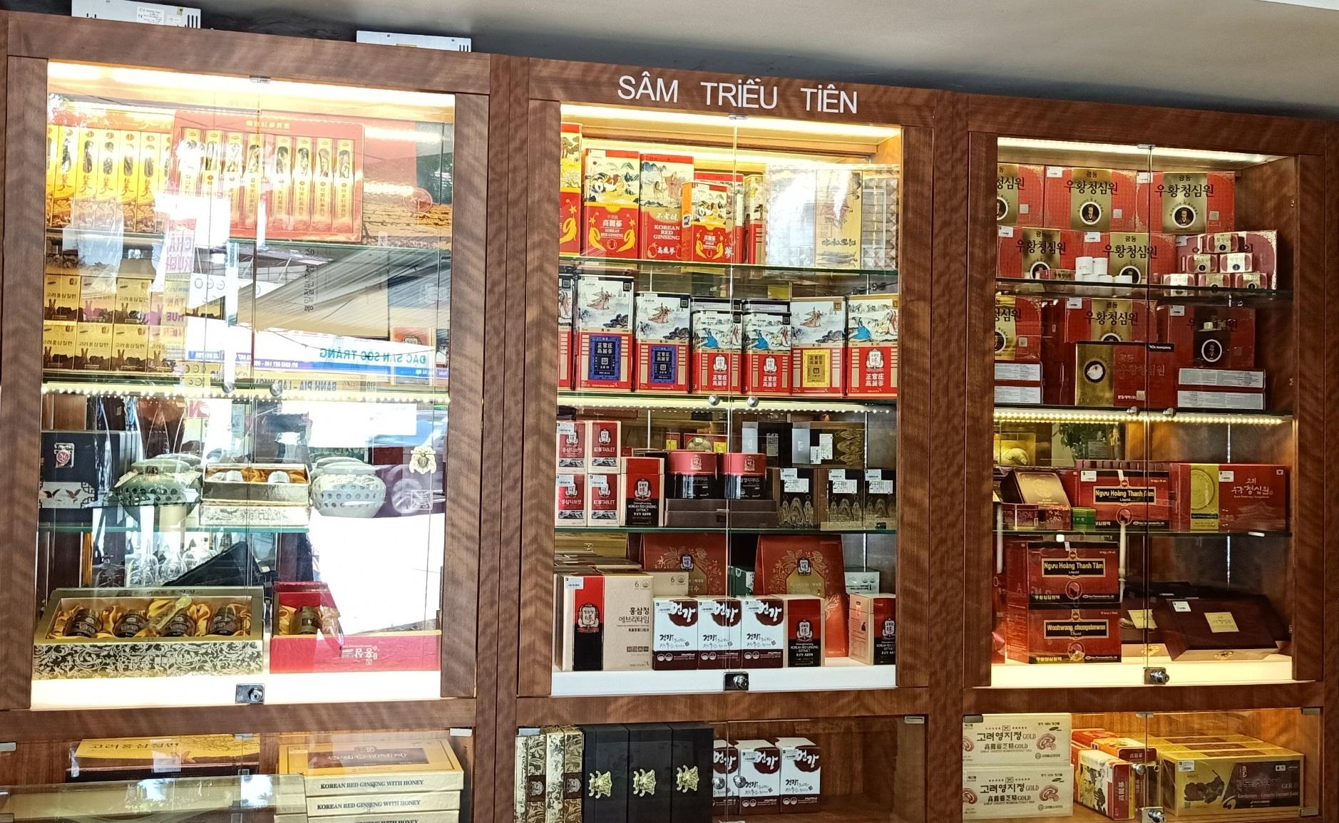 Trưng bày sản phẩm sâm chính phủ tại cửa hàng Onplaza