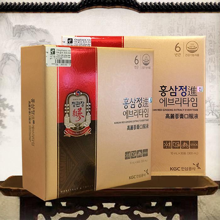 Nước hồng sâm cao cấp chỉnh phủ KGC hộp 30 gói