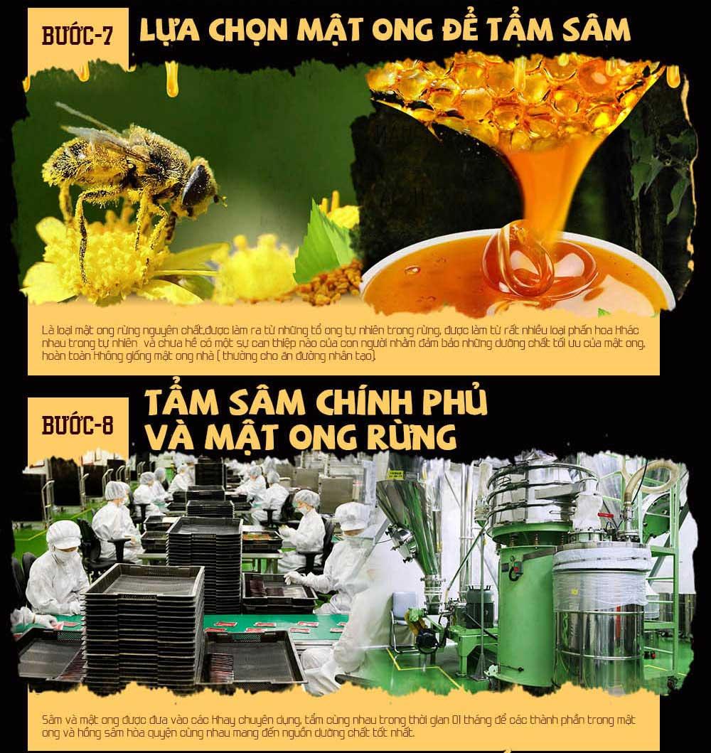 hồng sâm chính phủ tẩm mật ong