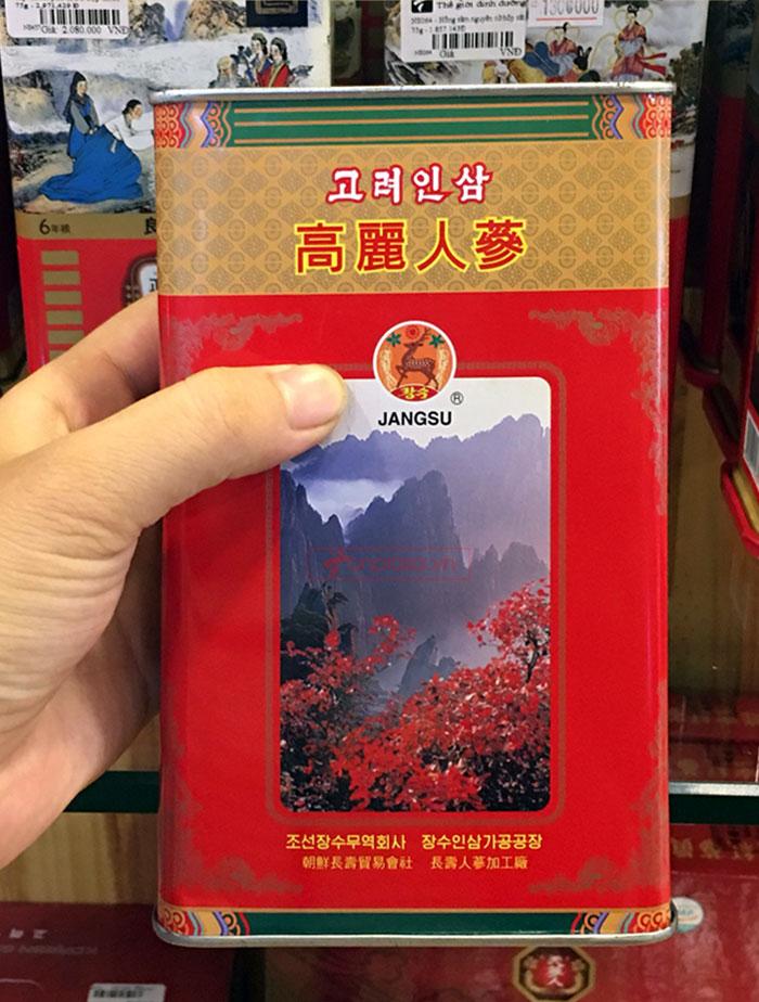 XHồng sâm Cao Ly Triều Tiên 6 năm tuổi nhập khẩu hộp thiếc 150g
