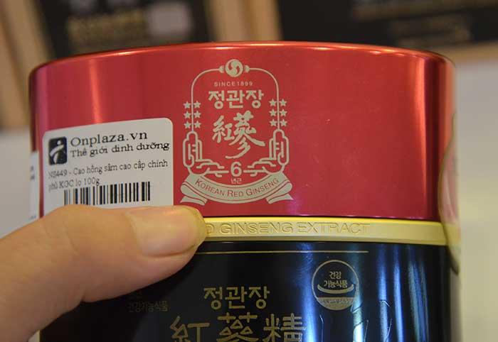 Cao hồng sâm cao cấp chính phủ KGC (Cheong Kwan Jang) lọ 100g NS449