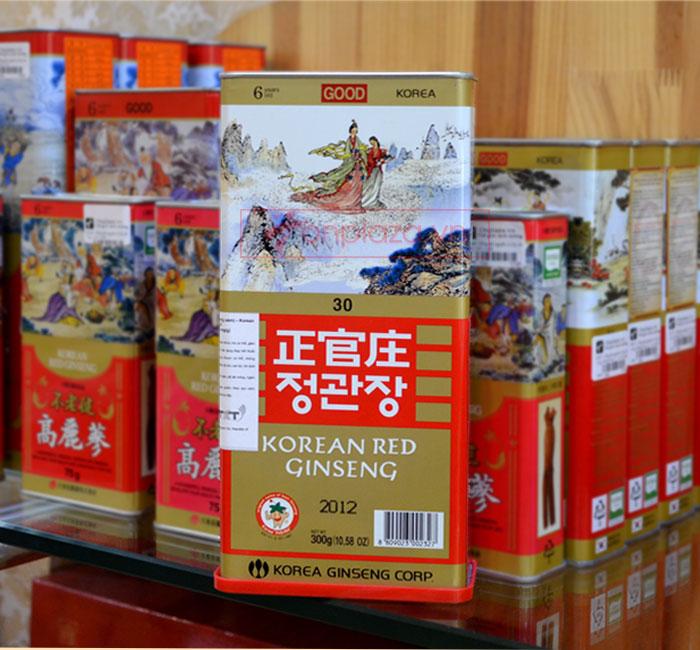 Hồng sâm củ khô cao cấp chính phủ KGC (Cheong Kwan Jang) hộp thiếc 300g NS455
